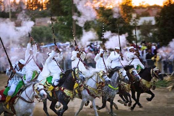 عيار ناري يسقط فارس بمهرجان في شيشاوة