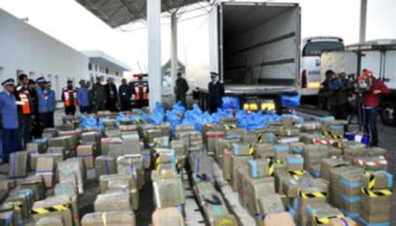 حجز 13 طنا و 750 كيلوغراما من الحشيش بميناء طنجة