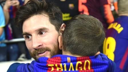 تياغو الطفل يسجل هدفا على طريقة والده ليونيل ميسي