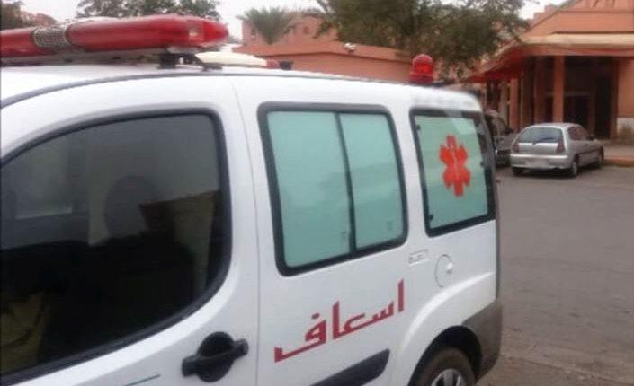 ضبط سيارة إسعاف كانت بصدد تهريب أشخاص نحو زاكورة تحت ظرفية الحجر الصحي
