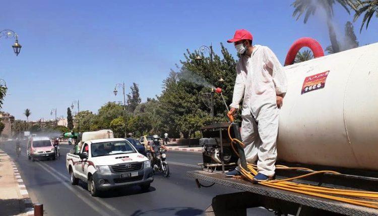 """"""" نبقاو على بال"""" شعار حملة تحسيسية شاملة لمجلس مراكش ضد عدوى كورونا"""